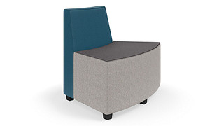 MyPlace Lounge Furniture | 45° Outside Curve w/ Back