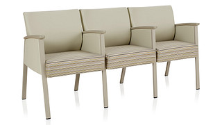 Soltice Metal Multiple Seating | Three Seat