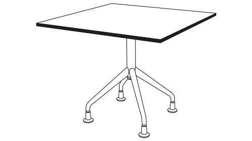 Rectangular Top (Fixed/Folding/Pin-Height Adjustable Leg or Flip-Top, w/optional Modesty Panel and w/optional Power)
