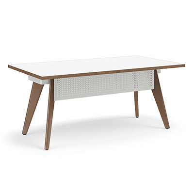 Connection Zone Wood Leg Desk