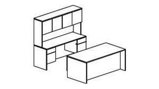 Aristotle Casegoods | Pedestal Desk, Credenza and Overhead