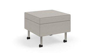 Tattoo Slim Seating | Ottoman on Casters