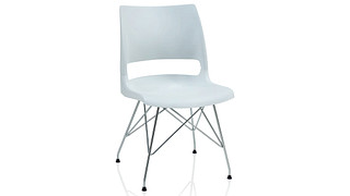Doni Guest Chair | Wire Tower with Solid Shell (Poly)