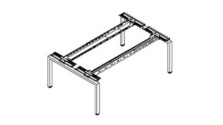 Connection Zone Benching   Dual-Sided Standalone or Starter Metal Frame