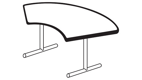 Crescent Top (Fixed/Folding Leg)