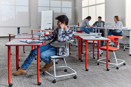 Ruckus class12b PLdesks tables stackchairs students