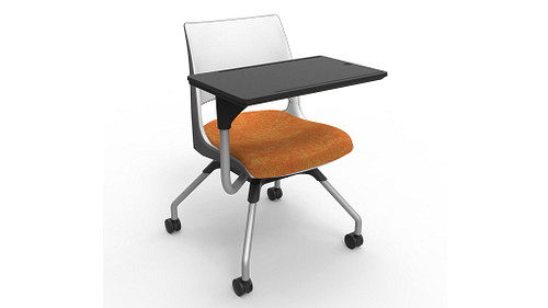 Doni 2-Tone Shell (Upholstered Seat) with Worksurface
