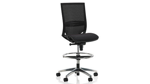 Task Stool with Mesh Seat