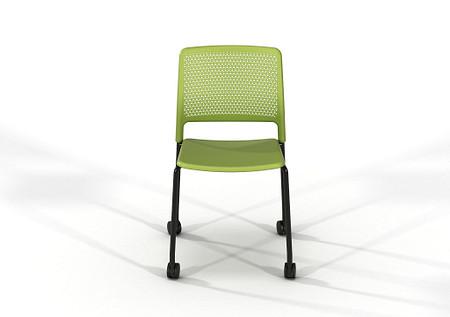 Grafton-4-leg-castors-Grass-Green-Black-frame-02