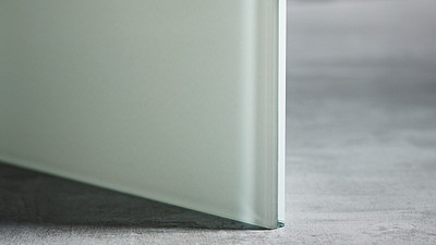 "Glass | 3/8"" White Laminate, 10% Opacity"