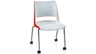 Doni Stack Chair | 4-Leg with Casters with 2-Tone Shell (Poly)