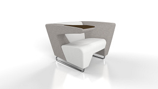 MyWay Lounge Seating | Left Work Arm, Right High Arm