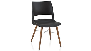 Doni Guest Chair | Tapered Wood Leg with Solid Shell (Poly)