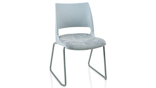 Doni Stack Chair | Sled Base with Solid Shell (Upholstered Seat)