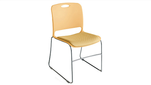 Stack Chair with Upholstered Seat