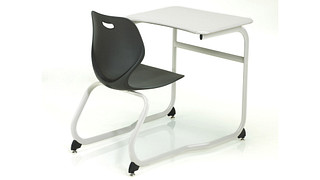 Intellect Wave Desks | Double-Entry Poly Desk
