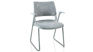 Doni Stack Chair | Sled Base with Solid Shell (Upholstered Seat & Back)