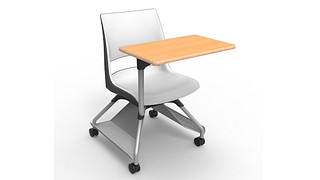 Learn2 Seating | Doni 2-Tone Shell (Poly) with Worksurface