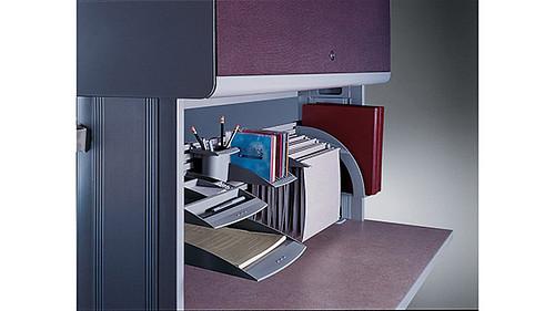 Overhead Cabinet with Fabric Door