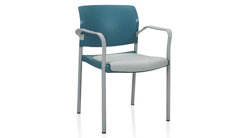 4-Leg Stack Chair with Upholstered Seat