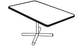 Barron Tables | Rectangular Top (Fixed/Folding Leg or Flip Top) w/optional Modesty Panel or Power