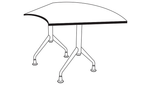 Crescent Top (Fixed/Folding Leg)