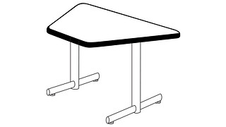 Portico Tables | Trapezoid Top (Fixed Leg or Flip-Top)