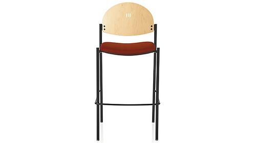cafe round back wood back uph seat