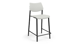 Katera Cafe Stool | Upholstered Seat and Back