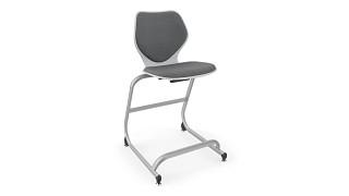 Intellect Wave Cafe Stool | Upholstered Cafe Stool