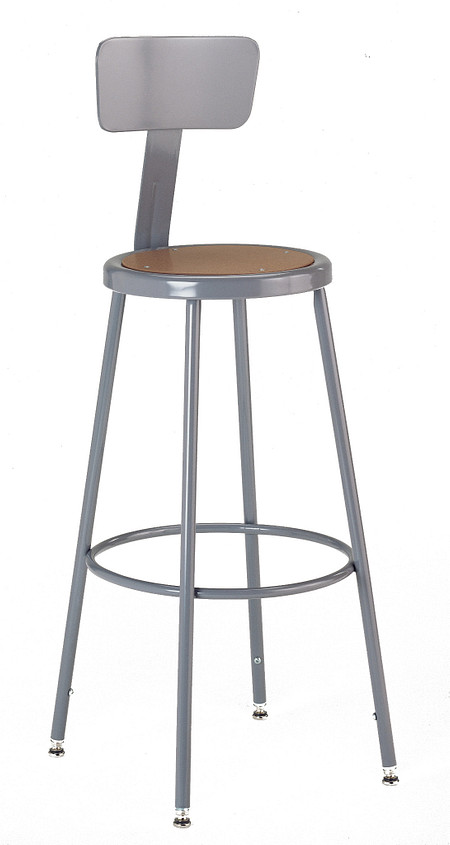 600 Series Industrial Stool Steel Backrest Adjustable Leg