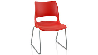 Doni Stack Chair | Sled Base with Solid Shell (Poly)