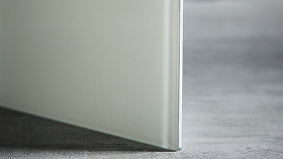 "Glass | 1/4"" White Laminate, 10% Opacity"