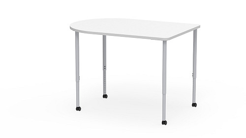 D-Shaped, Sit-Stand Height Adjustable