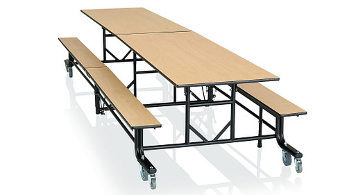 Rectangular Table with Benches