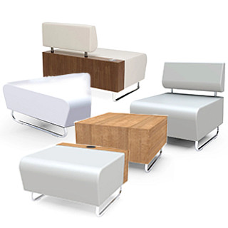 Hub Lounge Furniture Revit Symbols