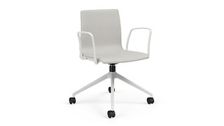 Voz Guest Chairs | Swivel Chair with Upholstered Seat/Back