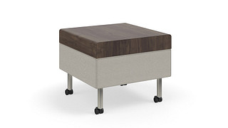 Tattoo Slim Seating | Occasional Table on Casters