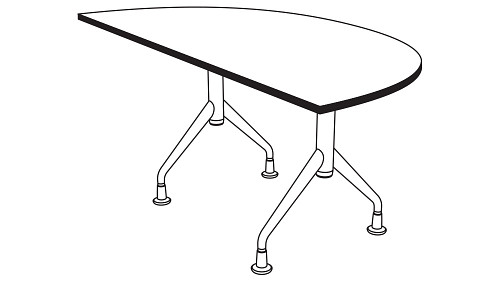 Half Round Top (Fixed/Folding leg)