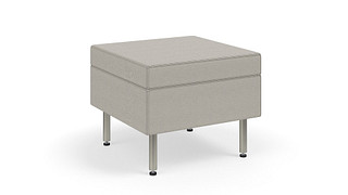 Tattoo Slim Seating | Ottoman on Glides