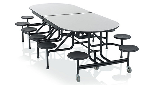 Racetrack Table with Stools