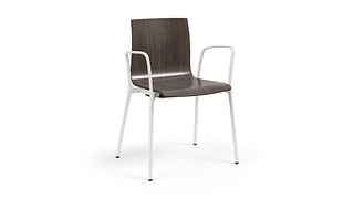 Voz Guest Chairs | 4-Leg with Wood Seat/Back