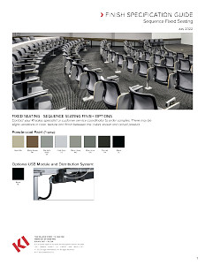 Sequence Fixed Seating Finish Specification Guide