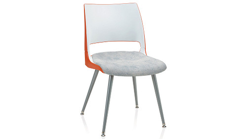 Tapered Steel Leg with 2-Tone Shell (Upholstered Seat)