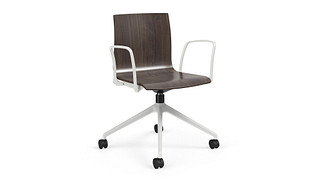 Voz Guest Chairs | Swivel Chair with Wood Seat/Back
