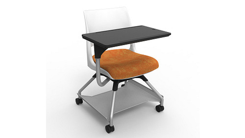 Doni Solid Shell (Upholstered Seat) with Worksurface