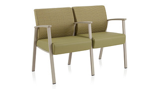 Soltice Metal Multiple Seating | Two Seat
