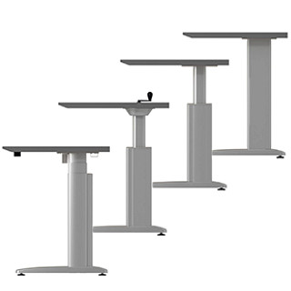 Genesis Height-Adjustable Desking CAD Symbols