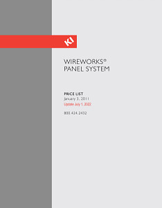 WireWorks Panel System Price List