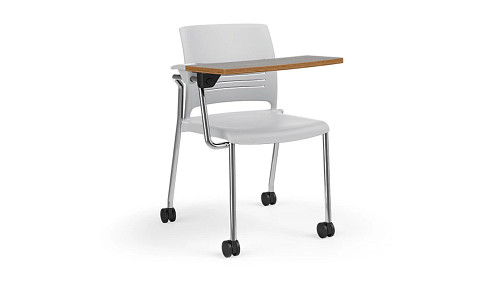 Strive Stack Chair (All Bases, Upholstered or Poly) with ChangeUp Tablet Arm